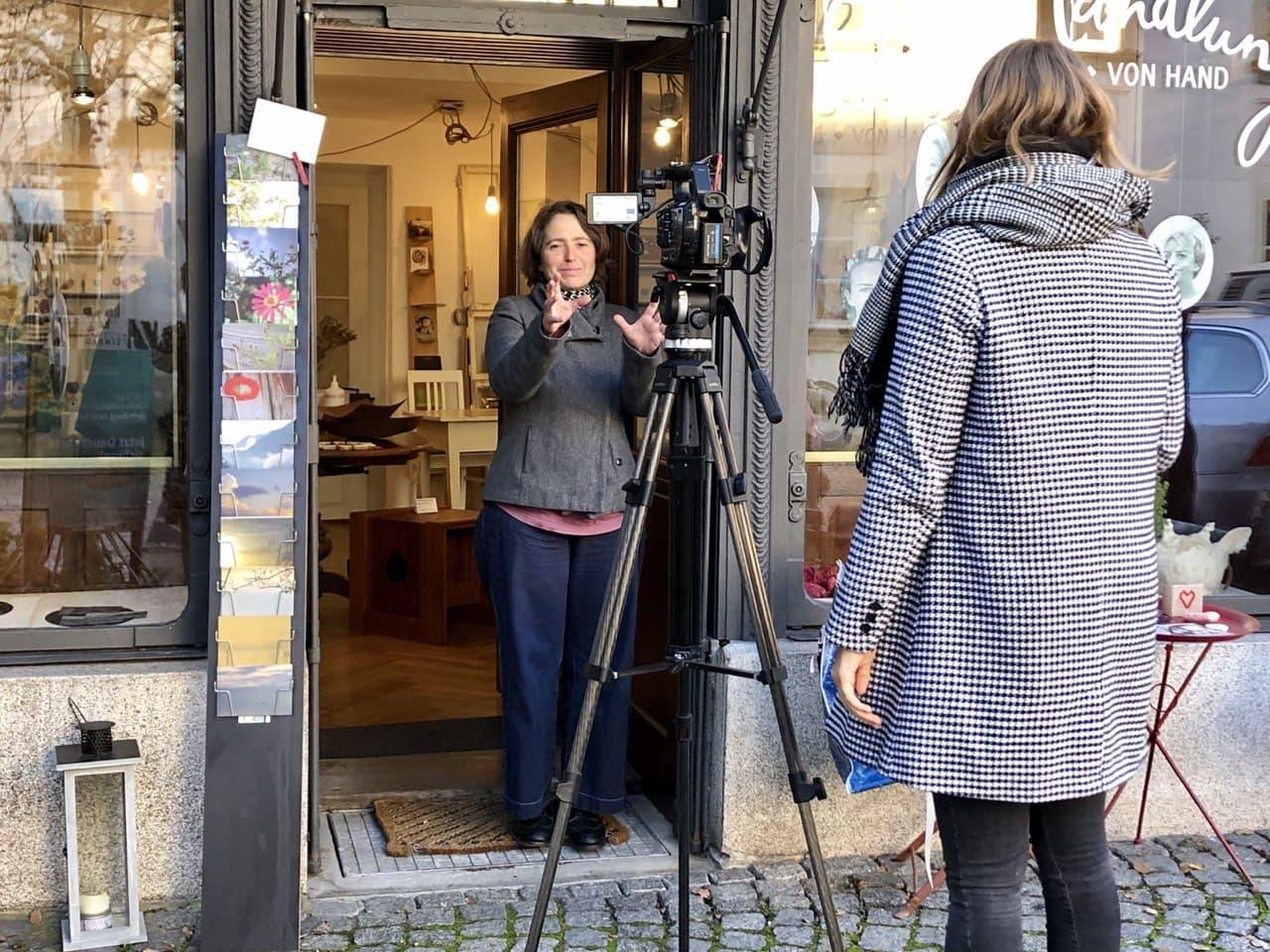 Das Filmteam von Allgäu-TV in der Handlung